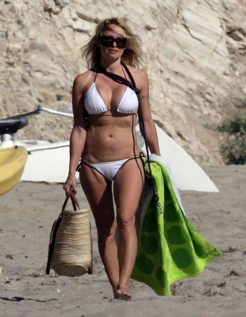 Pamela Anderson Shows Off Bikini Bod in Malibu (No Germany No Fr