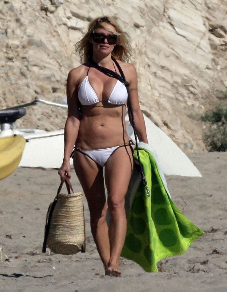 Pamela Anderson Shows Off Bikini Bod in Malibu (No Germany No Fr